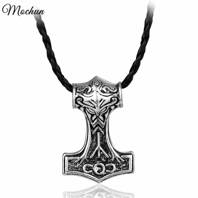 mqchun thor hammer necklace the dark world alloy thor s hammer