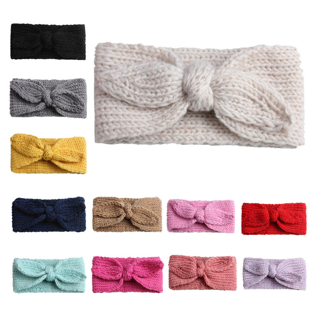Tienda Online Diadema bebé niñas turbante cabeza abrigo niños recién ...