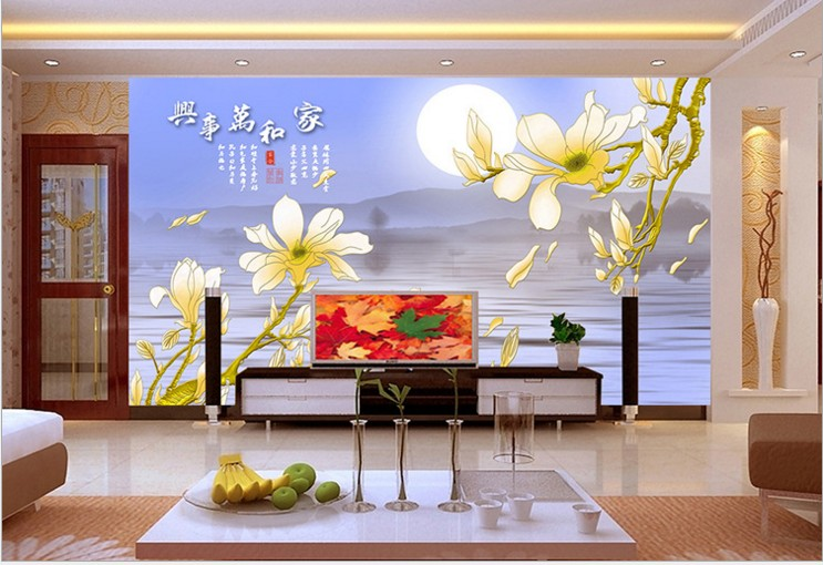 can customized Chinese style home decor flowers large 3d mural wallpaper wall stickers waterproof bedroom Tv sitting room design 1897art large murals3d can be custom made furniture decorative wallpaper house ornamentation decor wall stickers chinese style