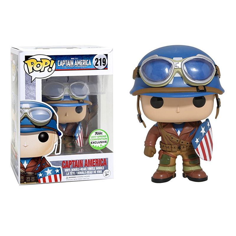 ФОТО ECCC Exclusive Funko pop Official Emerald City Comic Con WWII Captain America Limited Edition Vinyl Figure Collectible Model Toy