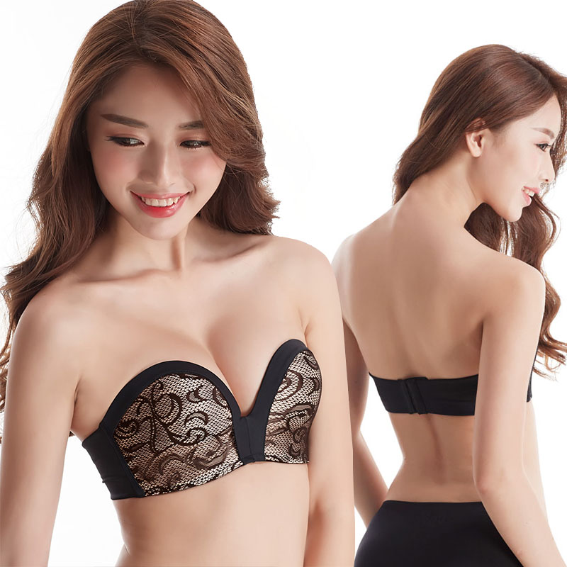 93bd1a34d087e Fashion 3Styles Bridal Super Boost Push up Bra Thick Padded Support Add 2  Cup Strapless Lingerie Wedding bra-in Bras from Underwear   Sleepwears on  ...
