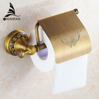 Free Shipping 2014 New Arrival Antique Bronze Finishing Paper Holder Roll Holder Tissue Holder Bathroom Accessories