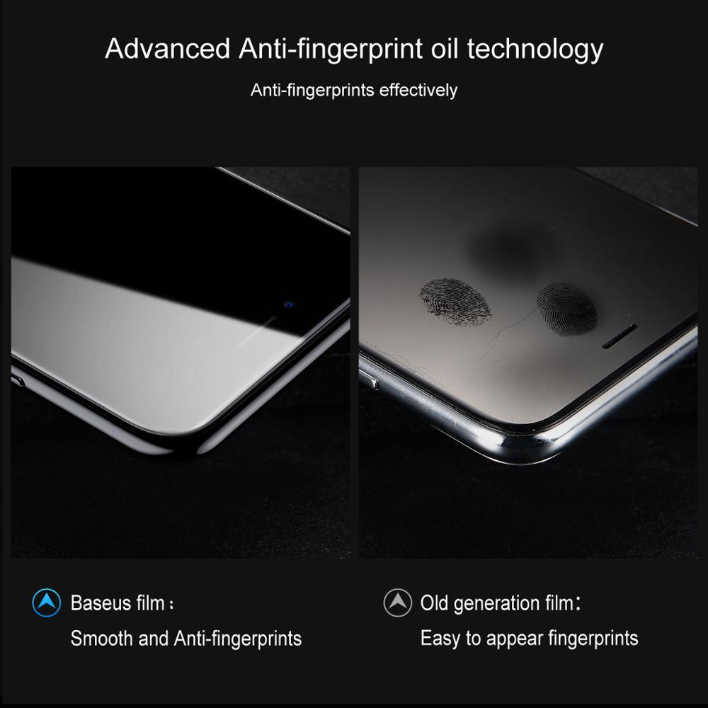 Image 3 - Baseus For iPhone 8 7 Screen Protector Ultra Thin 9H Scratch Proof Tempered Glass For iPhone 7 Plus 8 Plus Protective Glass-in Phone Screen Protectors from Cellphones & Telecommunications on