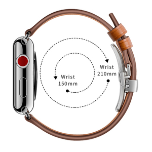 Image 4 - Genuine Cow Leather Watchband for iWatch Apple Watch Series 5 4 3 2 1 38mm 40mm 42mm 44mm Replacement Band Strap Wrist Bracelet
