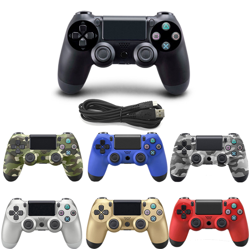 USB Wired Gamepad For Playstation Sony PS4 Controller Joystick Joypad Controle For PC Win 7/8/10 For PS3 Console With USB Cable цена и фото