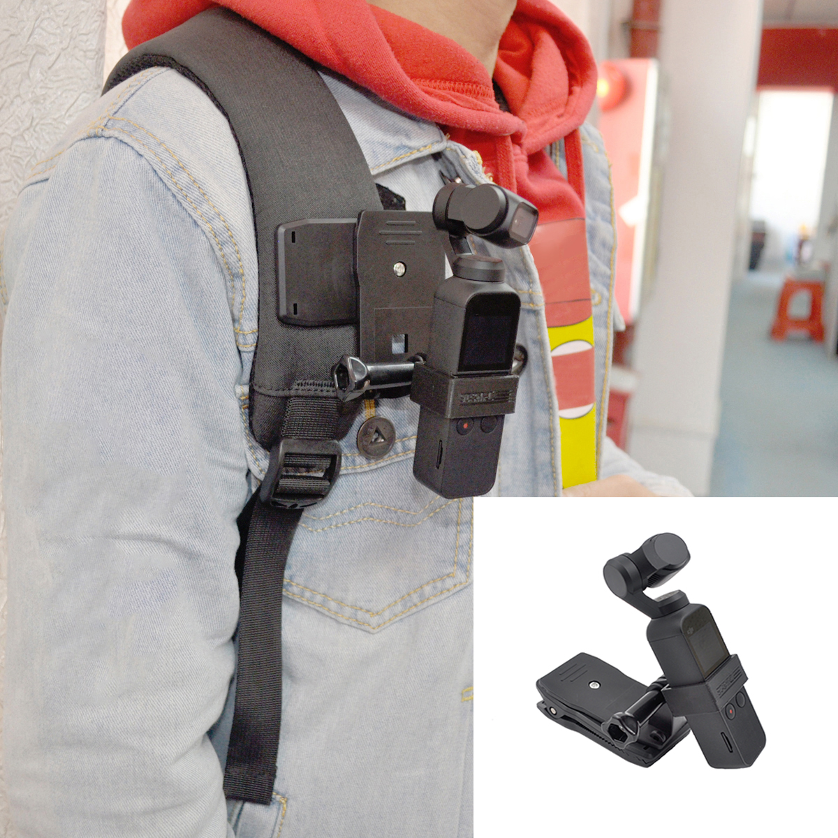 Backpack Clip Stand Expansion Bracket Holder for DJI OSMO Pocket Handheld Gimbal