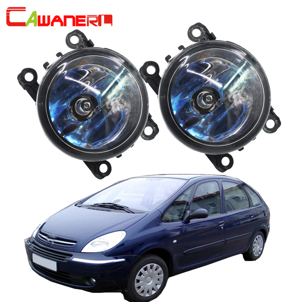 Cawanerl 2 X 100W H11 Car Halogen Bulb Fog Light DRL Daytime Running Lamp Styling For Citroen Xsara Picasso MPV N68 1999-2015