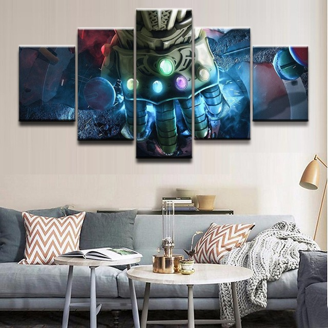 Modern Canvas Pictures Print Wall Art Frame 5 Pieces Movie Poster Avengers  Infinity War Home Decor