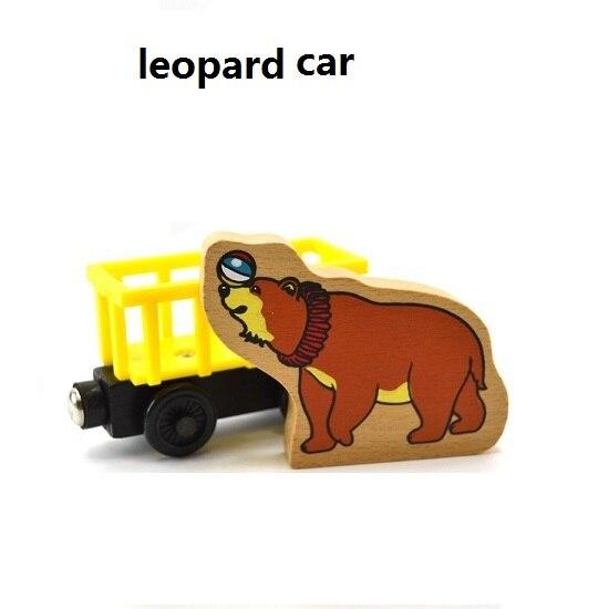 Деревянные магнитные паровозики, игрушки для железной дороги, деревянные паровозики для детей, подарок для детей, модель поезда - Цвет: Светло-зеленый