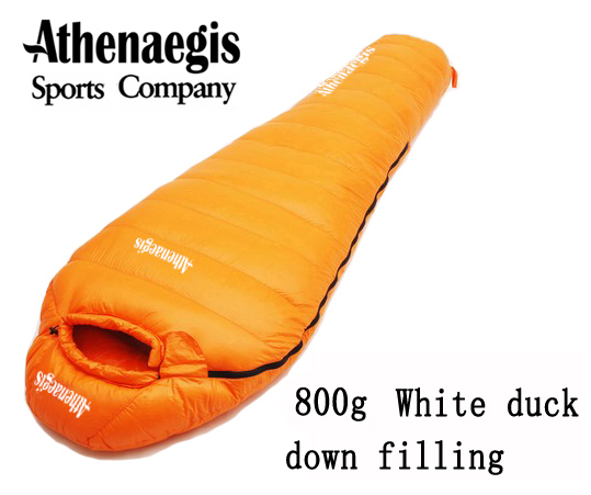 Athenaegis 800G white duck down filling can be spliced mummy ultra-light sleeping bag стоимость