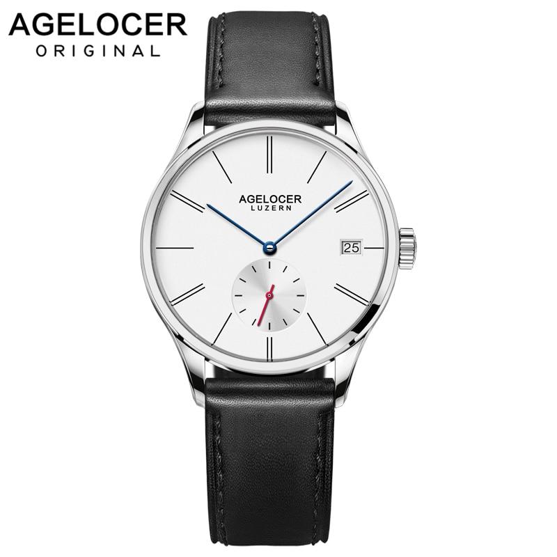 Agelocer Швейцария лучший бренд класса люкс для женщин часы кожаный браслет на запястье Модные женские наручные relojes mujer montre femme
