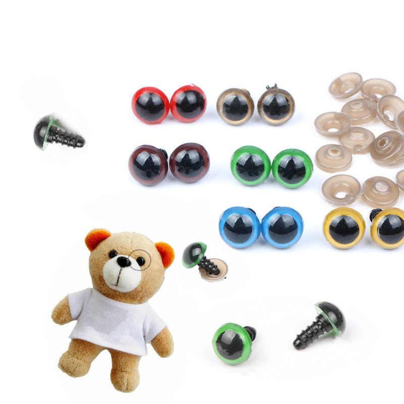 70 шт. 10 мм/12 мм цветные безопасные пластиковые глаза DIY ремесло поставки плюшевые игрушки животные куклы амигуруми Глазные яблоки Декор винт Googly глаза