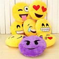 Smiley face pillow 32cm Emoji Pillow Smiley Emoticon Yellow Round Cushion Pillow Stuffed Plush Soft Toy