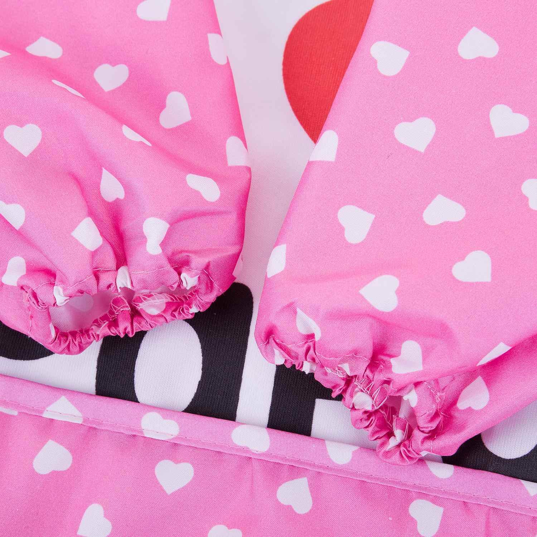 WOTT Lovey/непромокаемый комбинезон с длинными рукавами для маленьких детей, Детский фартук для кормления, розовый-I Love PaPa