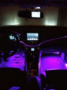 Image 5 - 50M 100M diametro 3mm trasparente t type gonna bagliore laterale cavo in fibra ottica luce per nastro laterale interno PMMA Car flessibile montaggio Decor