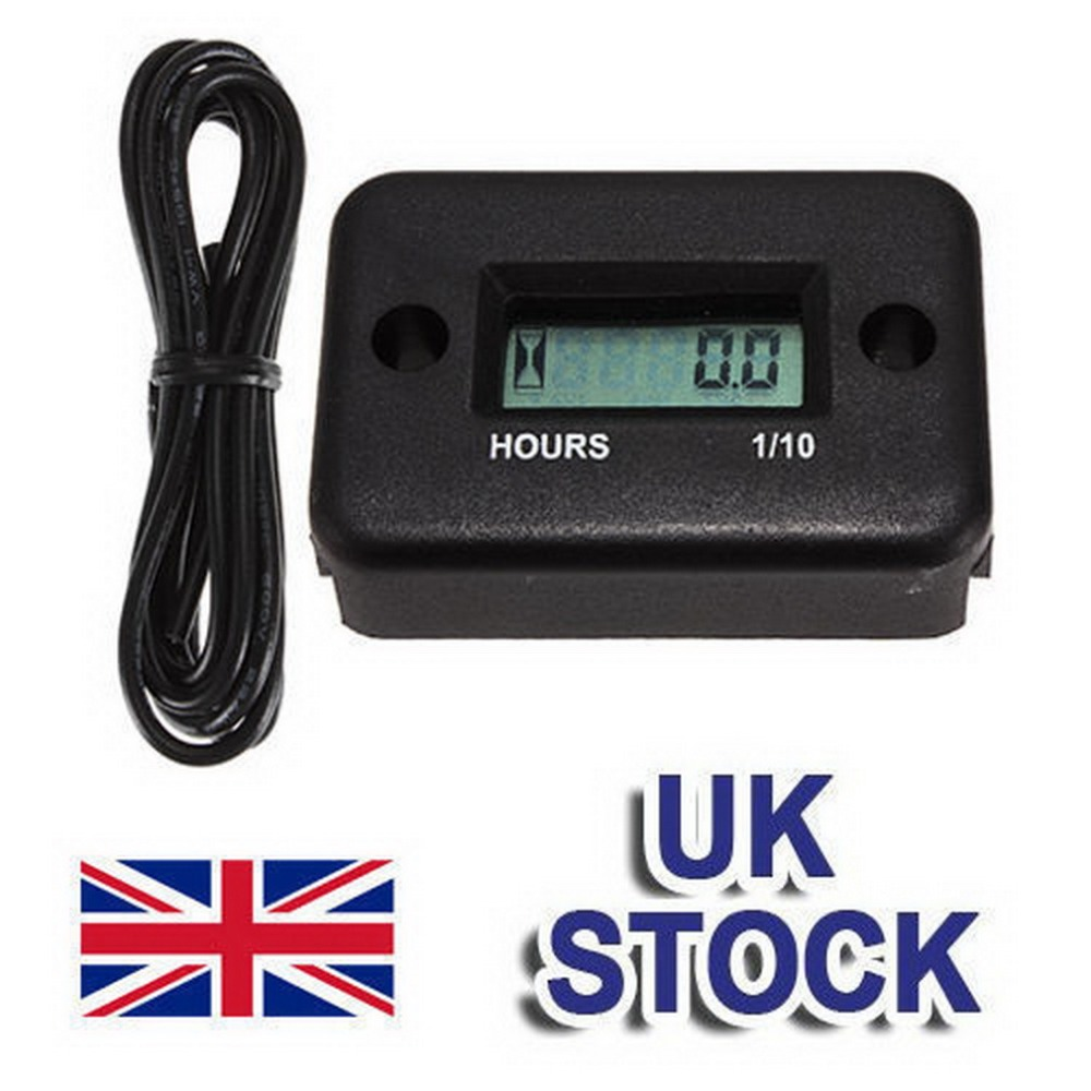 1pcs LCD Inductive Digital Hour Meter For Dirt Quad Bike Marine ATV Motorcycle Snowmobile