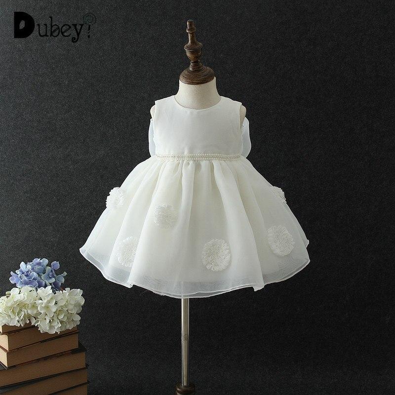 1 an fille bébé anniversaire robe bébé fille nouveau-né fête princesse vêtements robe blanc rose nœud papillon petite fille vêtements