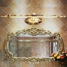 Luz LED para espejo de resina tallada en blanco/oro clásico europeo para el Gabinete del dormitorio del baño 54/68cm lámpara de pared de resina 2224