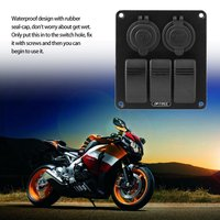 Car Automotive Red Single Light USB Charger LED Rocker Switch Panel 3.1A Voltage Cigarette Lighter Power Adapter Sockets