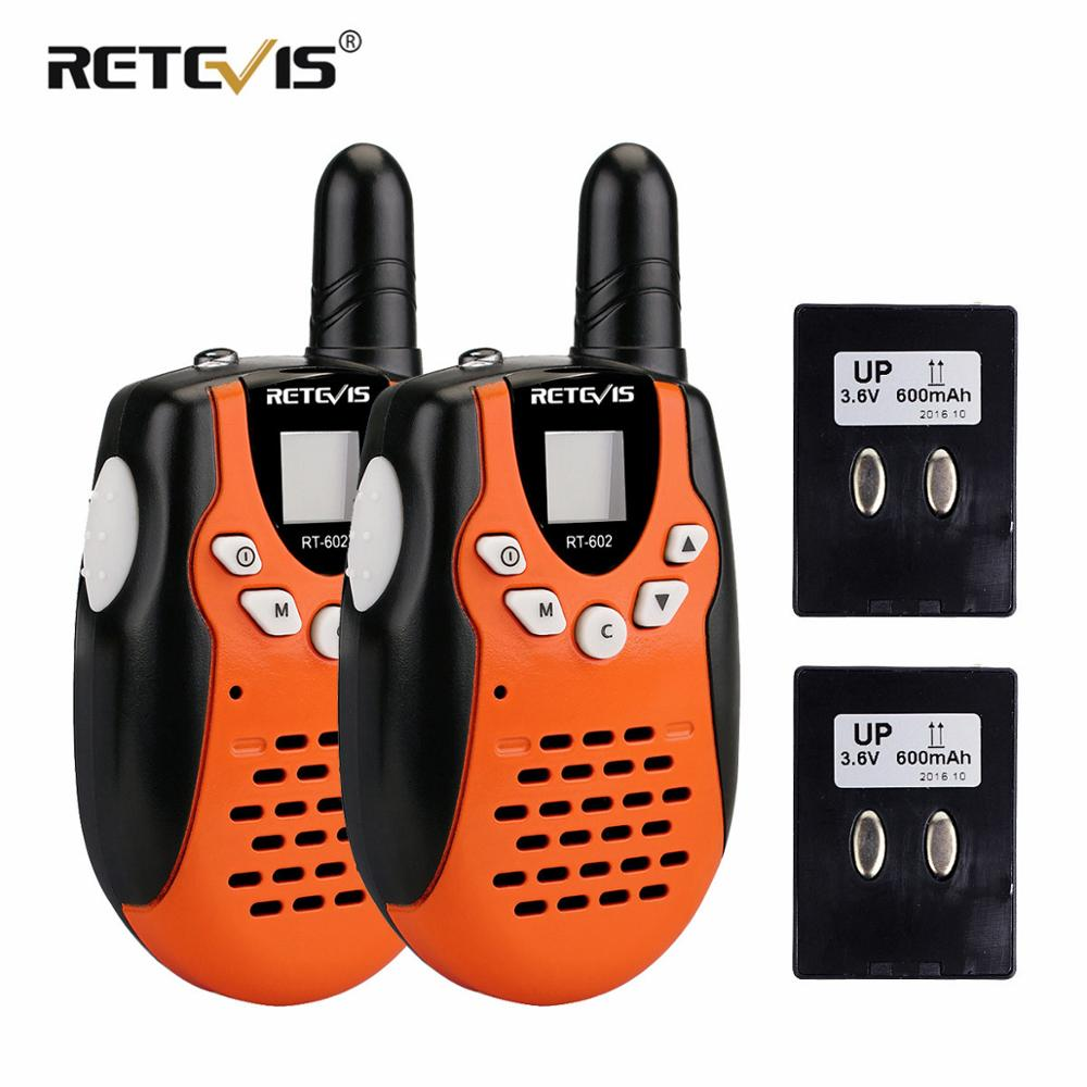 2pcs Children Walkie Talkie For Kids RETEVIS RT602 0.5W PMR Radio PMR446 FRS VOX Rechargable Battery 2 Way Radio Comunicador2pcs Children Walkie Talkie For Kids RETEVIS RT602 0.5W PMR Radio PMR446 FRS VOX Rechargable Battery 2 Way Radio Comunicador