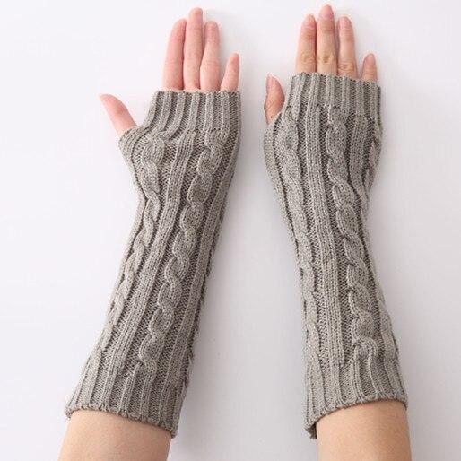 Armstulpen Koreanischen Stil Winter Und Herbst Jacquard Gestrickte Pullover Warme Halb Finger Frauen Handschuhe Arm Wärmer 1 Paar Up-To-Date-Styling