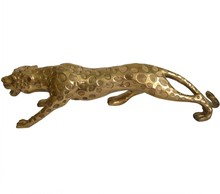 hot deal buy leopard ornaments copper leopard cheetah town house lucky office home craft decoration