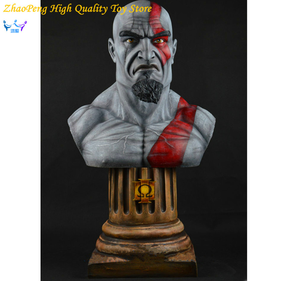 Free Shipping God of War Anime Kratos Action Figures Kratos Angry Expressions Statue Mars Kratos Collection Toy FB198 god of war statue kratos ye bust kratos war cyclops scene avatar bloody scenes of melee full length portrait model toy wu843