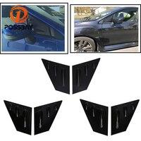 POSSBAY Black Carbon Fiber Window Quarter Louver Scoop Vent for Subaru WRX 2015 Present Car Sticker for Subaru Impreza Sedan