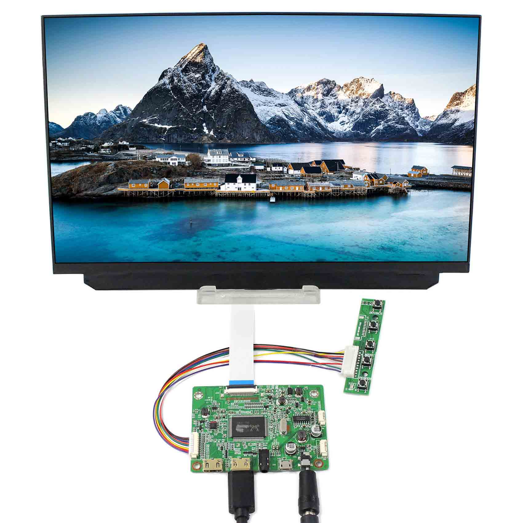 HDMI VGA LCD Controller Board VS-RTD2556HM-V1 With 12.5inch 1920x1080 B125HAN02.2 EDP LCD Screen vga hdmi lcd edp controller board led diy kit for lp116wh6 spa1 lp116wh6 spa2 11 6 inch edp 30 pins 1lane 1366x768 wled ips tft