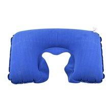 Портативная подушка для путешествий, надувная подушка для шеи, u-образная надувная подушка для путешествий, надувная подушка из флока ПВХ, 42 г