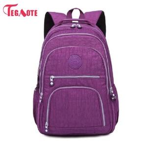 Image 2 - TEGAOTE szkoły plecak dla nastolatki Mochila Feminina kobiety plecaki Nylon wodoodporna dorywczo plecak na laptopa kobiet Sac A Do
