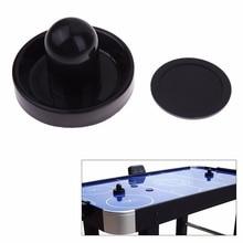 Черный 96 мм Воздушный хоккейный стол Войлок молоток толкача Goalies с 1 шт. 63 мм шайба для настольных игр аркадные качества толкатель+ шайба