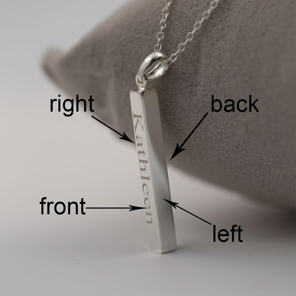 67629455c791 925 barra vertical grabado 4 lados Custom placa 3D bar colgante sólido  personalizada joyería para hombres mujeres en Collares pendientes de  Joyería y ...