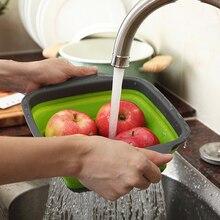 2 шт./компл. Складная сетка складная корзина Набор дуршлагов квадратный Форма для фруктов и овощей, стиральная кухня с мойкой корзины