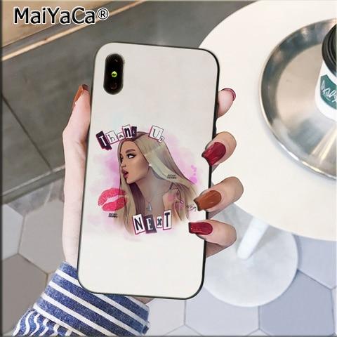MaiYaCa Thank U, Next Ariana Grand TPU black Phone Case Cover Shell for Apple iPhone 8 7 6 6S Plus X XS MAX 5 5S SE XR Cover Multan