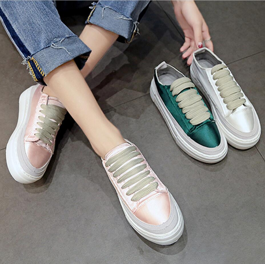XWWDVV Spain niche shoes casual versatile canvas shoes new thick bottom flat white shoes women 41