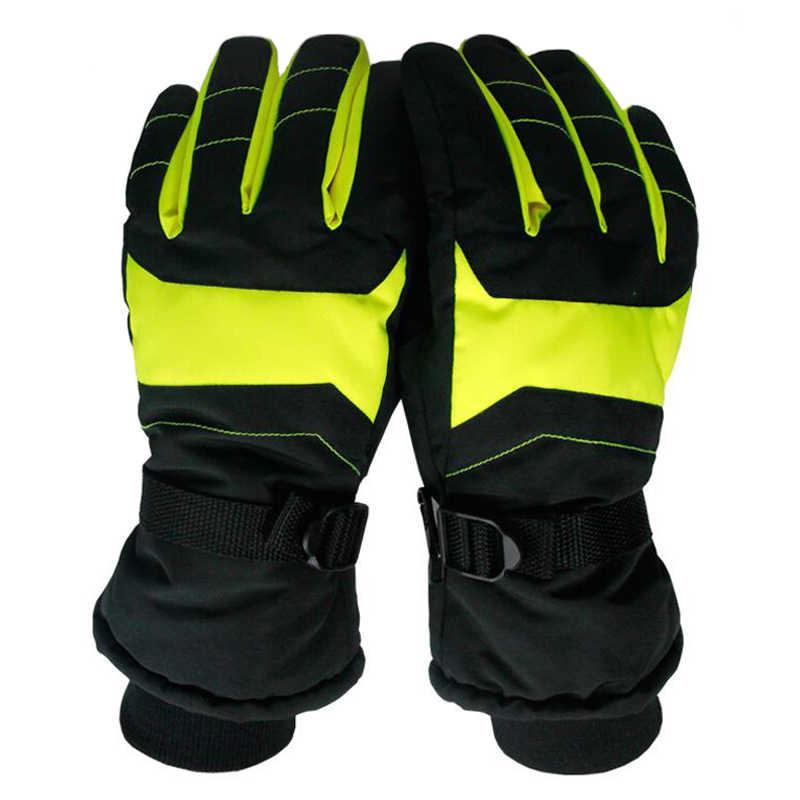 トップ品質暖かいスキー手袋通気性冬スノーボード手袋男性女性屋外スポーツスキーオートバイ手袋