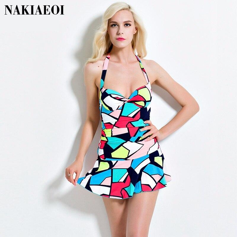 цены  One Piece Dress Swimsuit Female Solid Women Swimwear 2017 Bandage High Waist Bathing Suit Backless Brazilian Beachwear Monikini