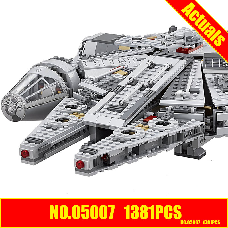 Lepin 05007 star wars 1381pcs Building Blocks Force Millennium Awakens Falcon Model Kits compatible 10467 lecgos building blocks super heroes star wars x wing fighter millennium falcon the force awakens compatible with lecgos