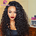 150% Density Curly Glueless Full Lace Human Hair Wigs Brazilian Virgin Hair Lace Front Wigs For Black Women With Baby Hair