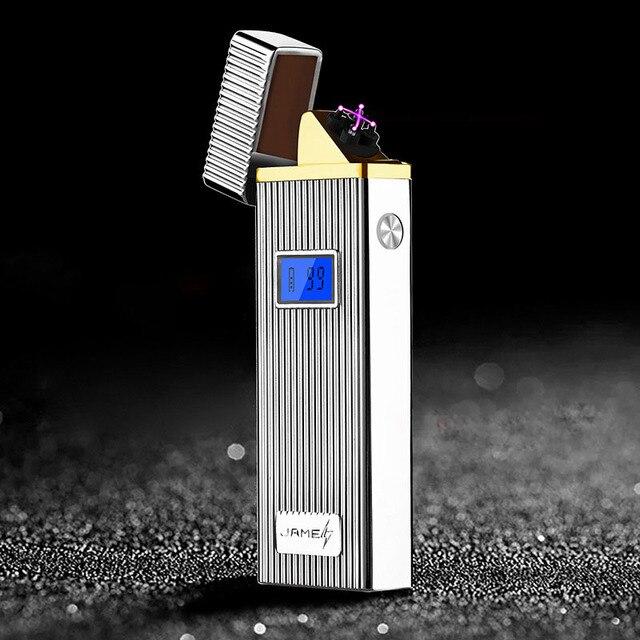 Nieuwste Dubbele Arc Lichter Plasma Elektronische USB Aanstekers Voor Sigaar Roken Winddicht Oplaadbare Aansteker Tabak Pijp