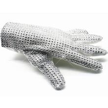 цена на MJ Michael Jackson Classic Silver Handmade Billie Jean Shining Glove Performance Collection