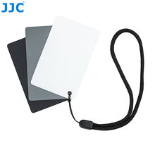 JJC 8.5×5.4cm 3in1 White Balance Digital 18% Gray Card DSLR SLR Camera Small WB Tool for Film Photography