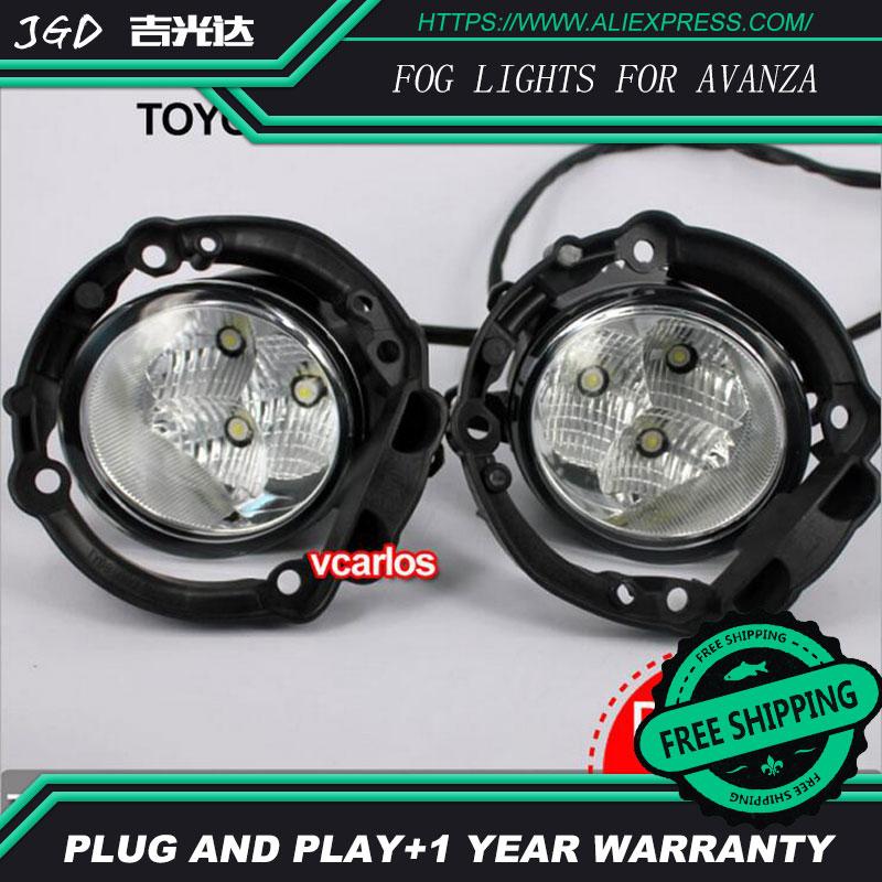 2PCS/Pair LED Fog Light For Toyota AVANZA 2007 High Power LED Fog Lamp Auto DRL Lighting Led Headlamp 2pcs pair halogen fog light for toyota avanza 2007 high power halogen fog lamp auto drl lighting led headlamp