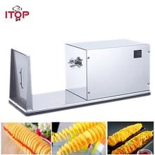 ITOP электрическая фритюрница торнадо картофель спиральный резак слайсер из нержавеющей стали картофель фри машина с 6 см лезвием
