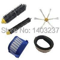 Bumper+ Aero Vac Filter+Bristle Brush+Flexible Beater Brush +Side Brush for iRobot Roomba 600 Series (620 630 650 660 680)