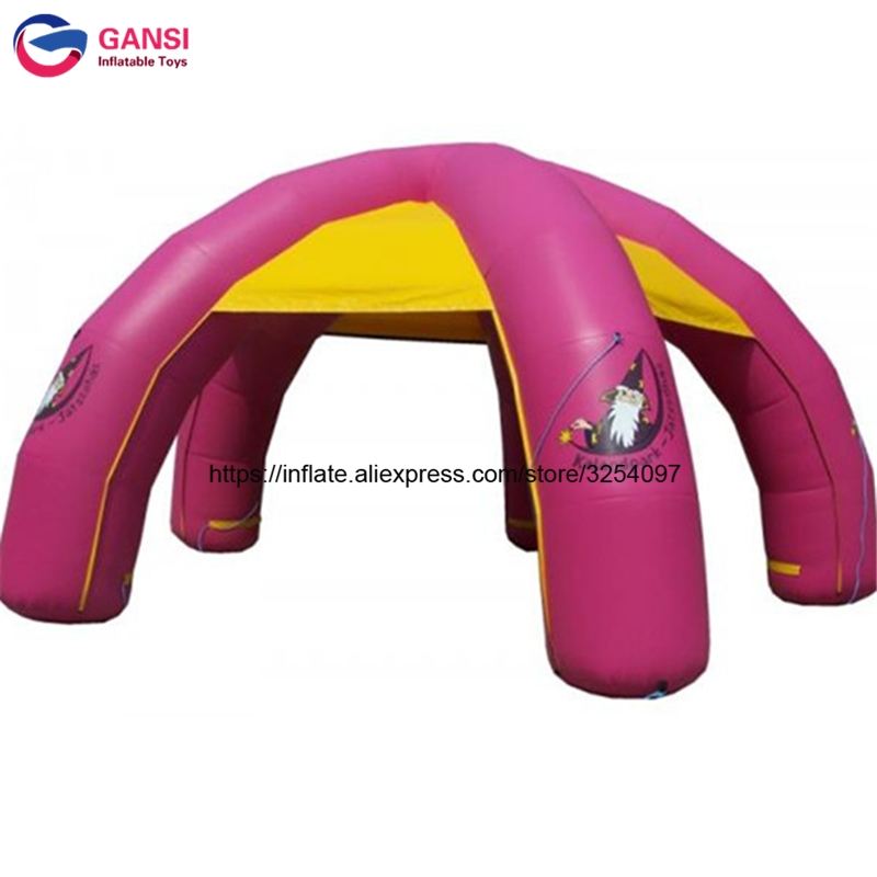 Multifunctional 6m inflatable spider dome tent with 5 legs customized logo cheap price inflatable event tent for party free shipping lighting large inflatable spider tent for party event exhibition rental