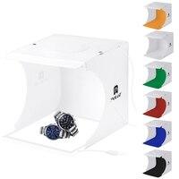 PULUZ Mini Studio Tent Lightroom Softbox Photography Accessory 2x Led Panels Cool White + Shadowless Light Panel Backdrops