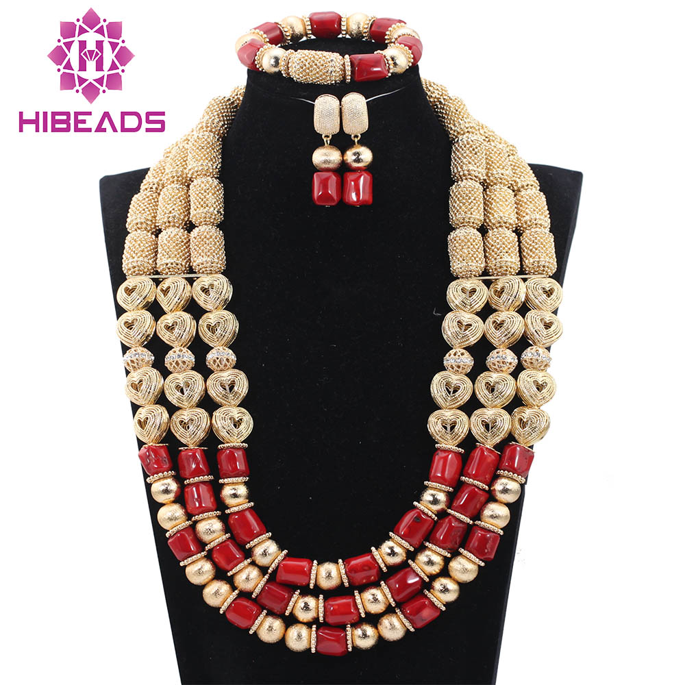 Dubai Red Coral Necklace Earrings Bracelet Wedding Jewelry Sets  Fantastic Christmas Jewelry Set Free ShippingABH199Dubai Red Coral Necklace Earrings Bracelet Wedding Jewelry Sets  Fantastic Christmas Jewelry Set Free ShippingABH199