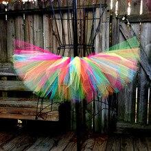 Разноцветные юбки-пачки для маленьких девочек; г.; ручная работа; Пышные юбки-американки из тюля для балета; детская Праздничная юбка для дня рождения; одежда